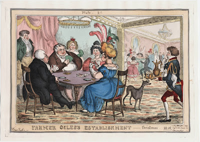Farmer Giles's establishment: Christmas 1816 by William Heath