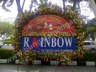 bunga papan pernikahan lamongan indah