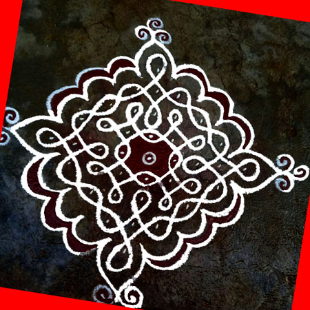 Rangoli image with free hand