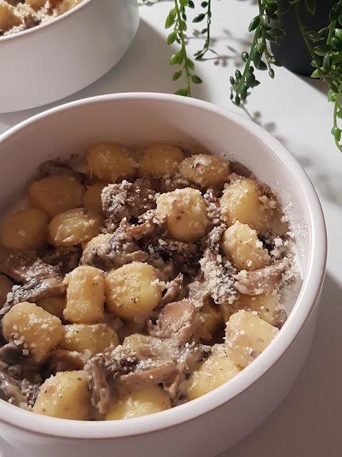 Gnocchis aux champignons et parmesan