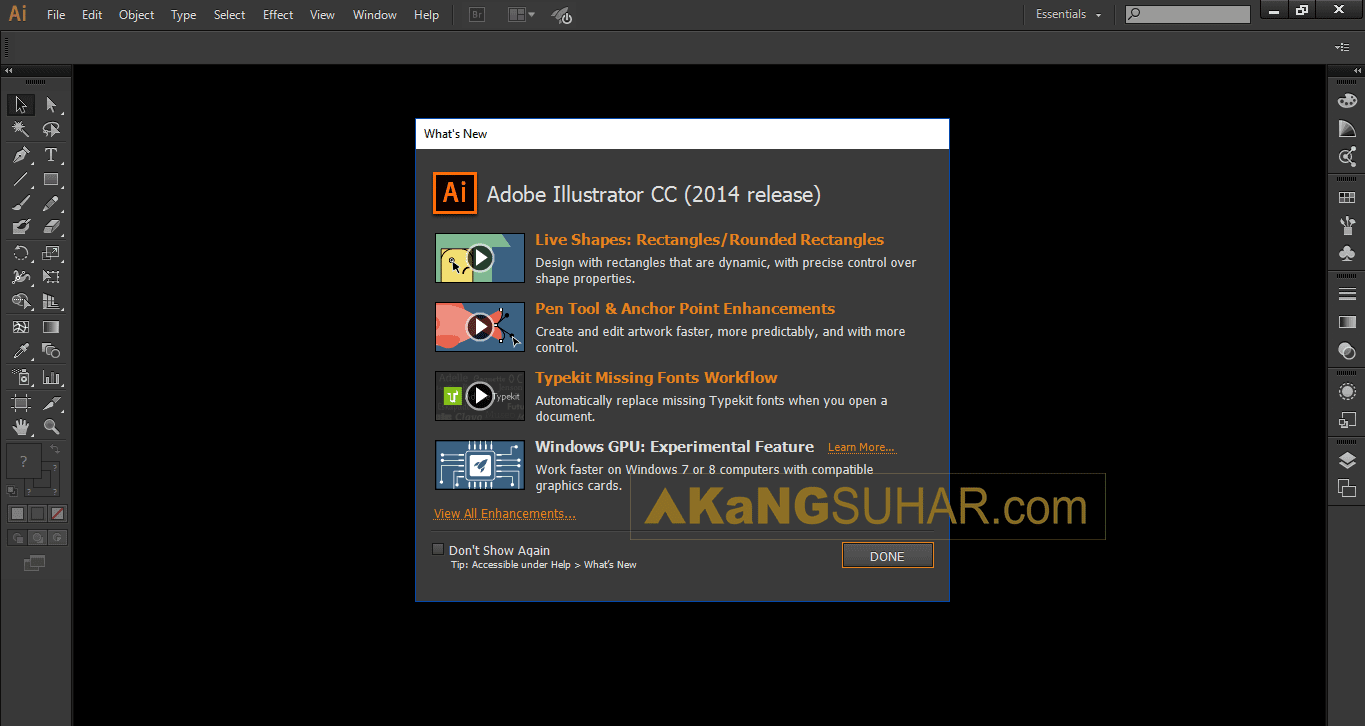 Free download Adobe Illustrator CC 2014 offline activation and activation code full crack with amtlib.dll for windows 32bit and 64bit update serial number www.akangsuhar.com