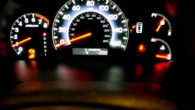 Le voyant de vérification du moteur