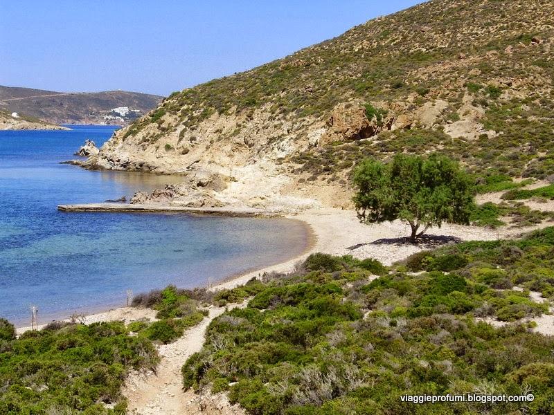 Spiaggia solitaria a Patmos