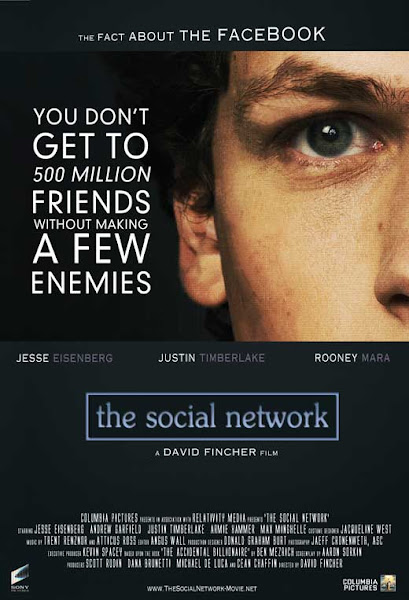 Poster Of The Social Network 2010 Hindi 720p BRRip Dual Audio Full Movie Download