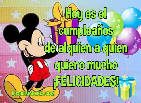 Tarjetas de cumpleaños de Michey Mouse