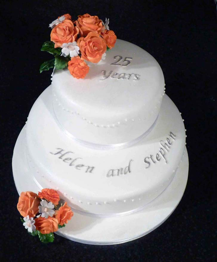 25th Wedding Anniversary Cake Ideas: Picture Of Wedding Cake Anniversary
