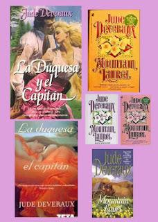 portadas de la novela romántica histórica La duquesa y el capitán, de Jude Deveraux