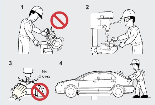 An toàn dụng cụ trong xưởng sửa chữa ô tô