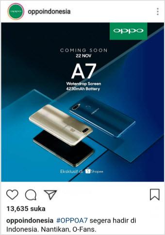 Berita Oppo A7 Terbaru Beserta Fitur dan Keunggulannya