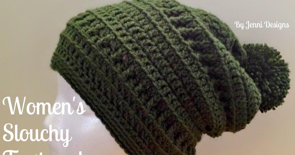 By Jenni Designs Free Crochet Pattern Womens Slouchy Textured Beanie