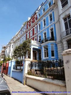 Casas estilo victoriano cercanas al mercado de Portobello Road