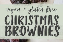 Vegan + Gluten Free Christmas Brownies Recipe