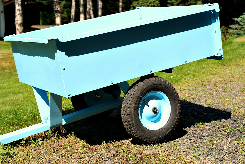 Spray Painted Trailer