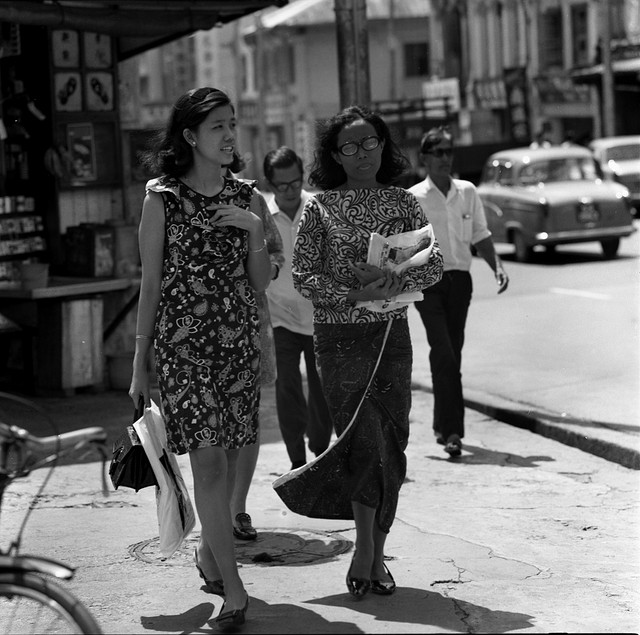 fashion on the street of singapore ca 1969 vintage