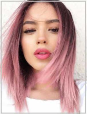 potongan rambut medium gaya ombre_9225487
