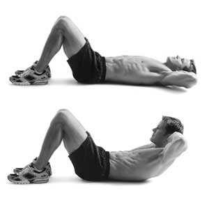 crunch abs exercise