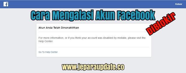 Cara Mengatasi Akun Facebook diblokir