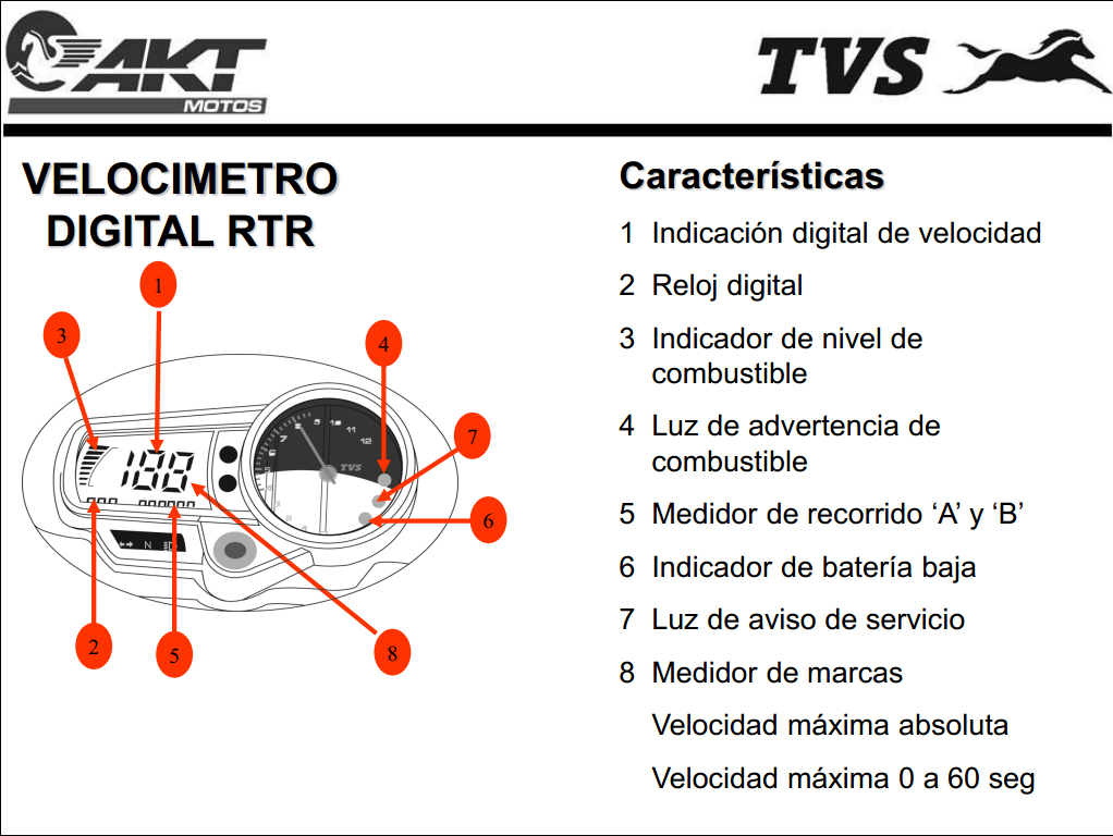 MOTEROS BUCARAMANGA: Manual Tablero Digital Apache 160-180