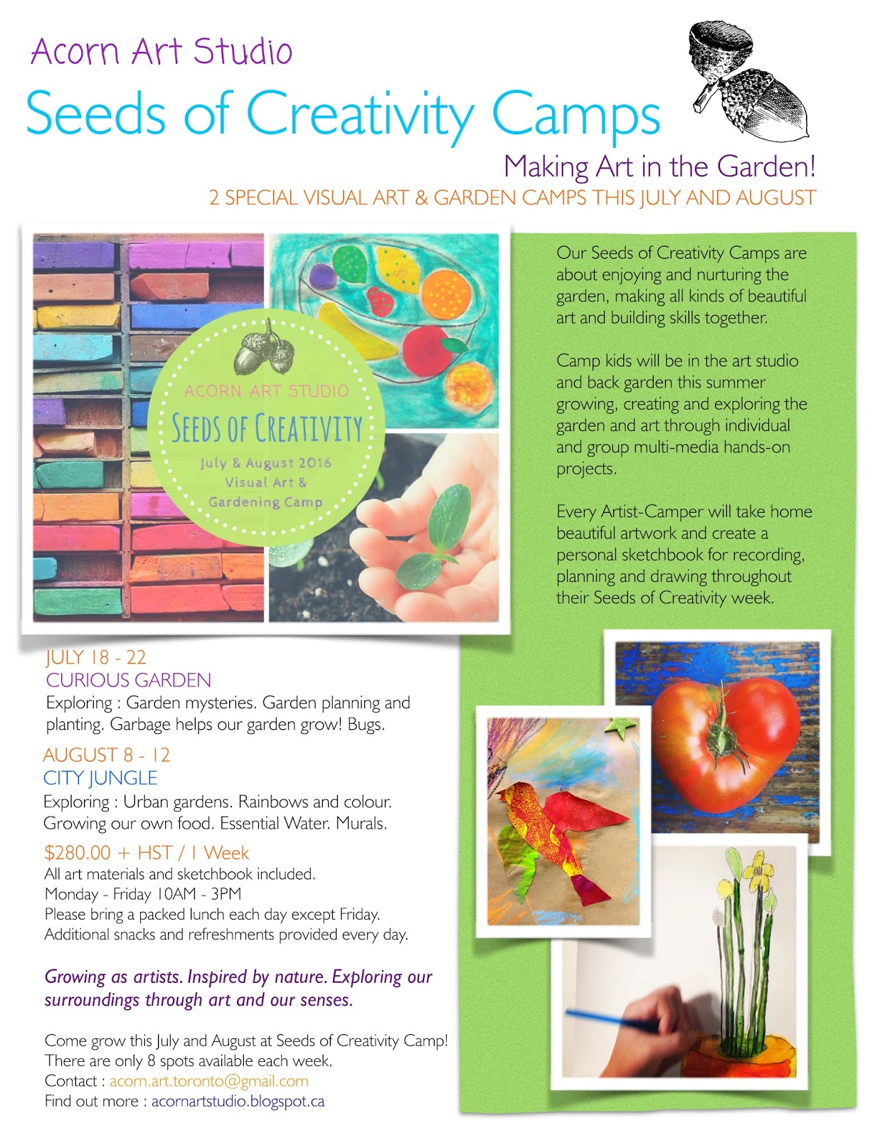 Seeds of Creativity Camp Poster