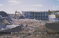 Demolition of No.1 Division, Boggo Road Gaol, Brisbane, 1996.
