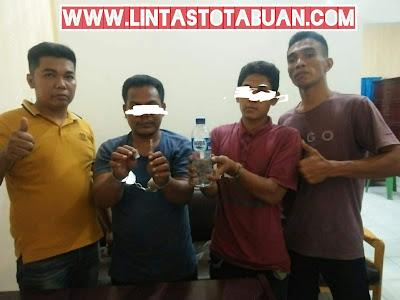 Dua pelaku Narkoba di Amankan Polsek Kota Pinang Saat Ops Antik Toba