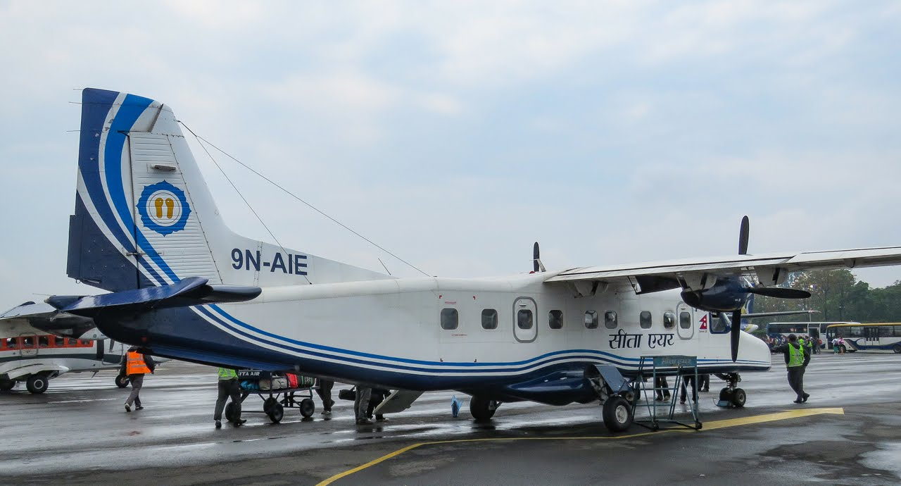 Dornier Do 228 aircraft ready for Kathmandu to Lukla flight