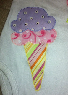 Cupcake and Ice Cream Appliques   The TipToe Fairy #craft #applique #tutorial #onesies