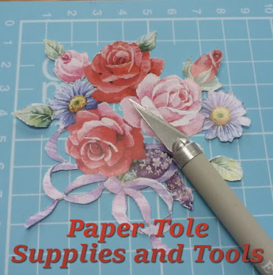 Beginner papier paper tole craft supplies tools and equipment