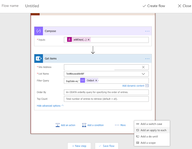 Using Flow to send Email Reminder from SharePoint Data