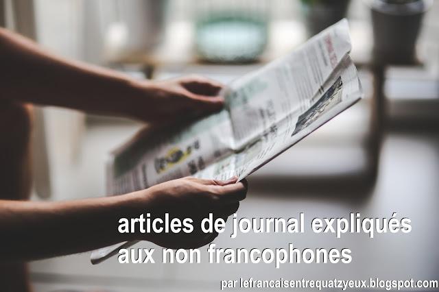 articles de journal expliqués étudier français