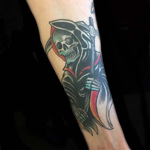 grim reaper tattoos forearm azrail dövmeleri