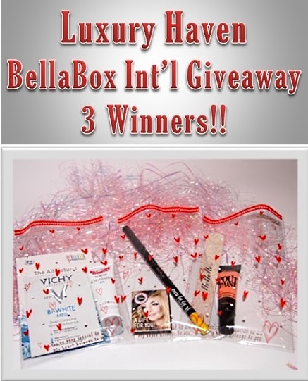 bellabox luxury haven giveaways