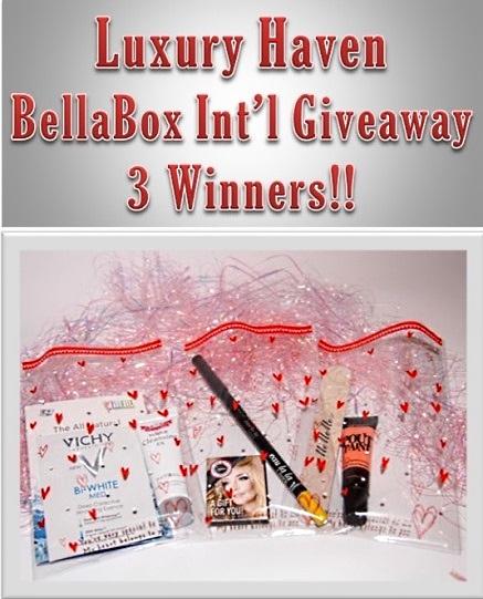bellabox luxury haven giveaways