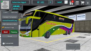 Livery BUSSID PO Luragung Jaya Sahara SHD + Link Download Livery Bus BUSSID Po Luragung Jaya Sahara