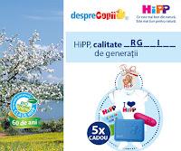 Castiga premii frumoase si alte surprize impreuna cu HIPP