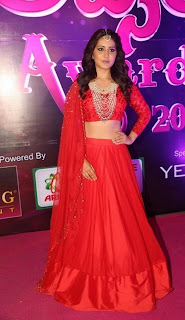 Rashi Khanna Stills in Red Lehenga Choli at Apsara Awards 2016 ~ Celebs Next