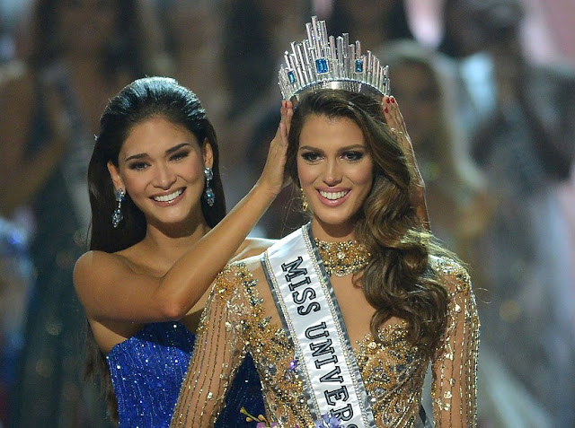 Miss France, Iris Mittenaere, 24, beat crowd favourite Miss Haiti to be named Miss Universe