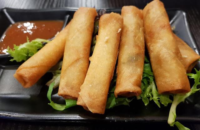 Okami Japanese Restaurant, Camberwell, spring rolls