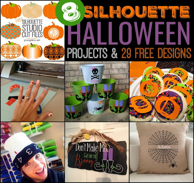 silhouette halloween project, silhouette project ideas, print and cut, silhouette 101, silhouette america blog