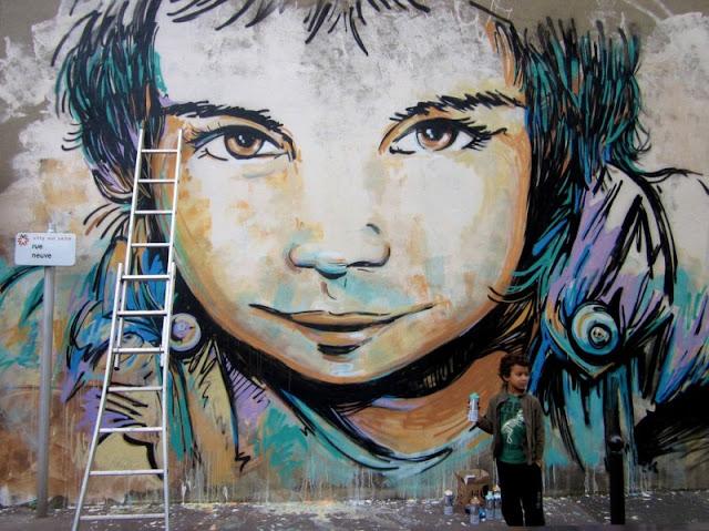 Рисунки на стенах. Alice Pasquini 4
