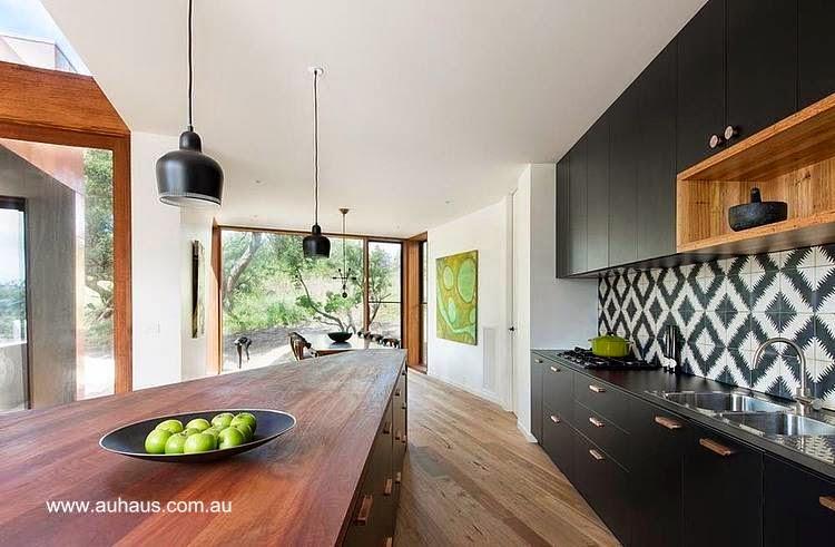 Cocina contemporánea en residencia australiana