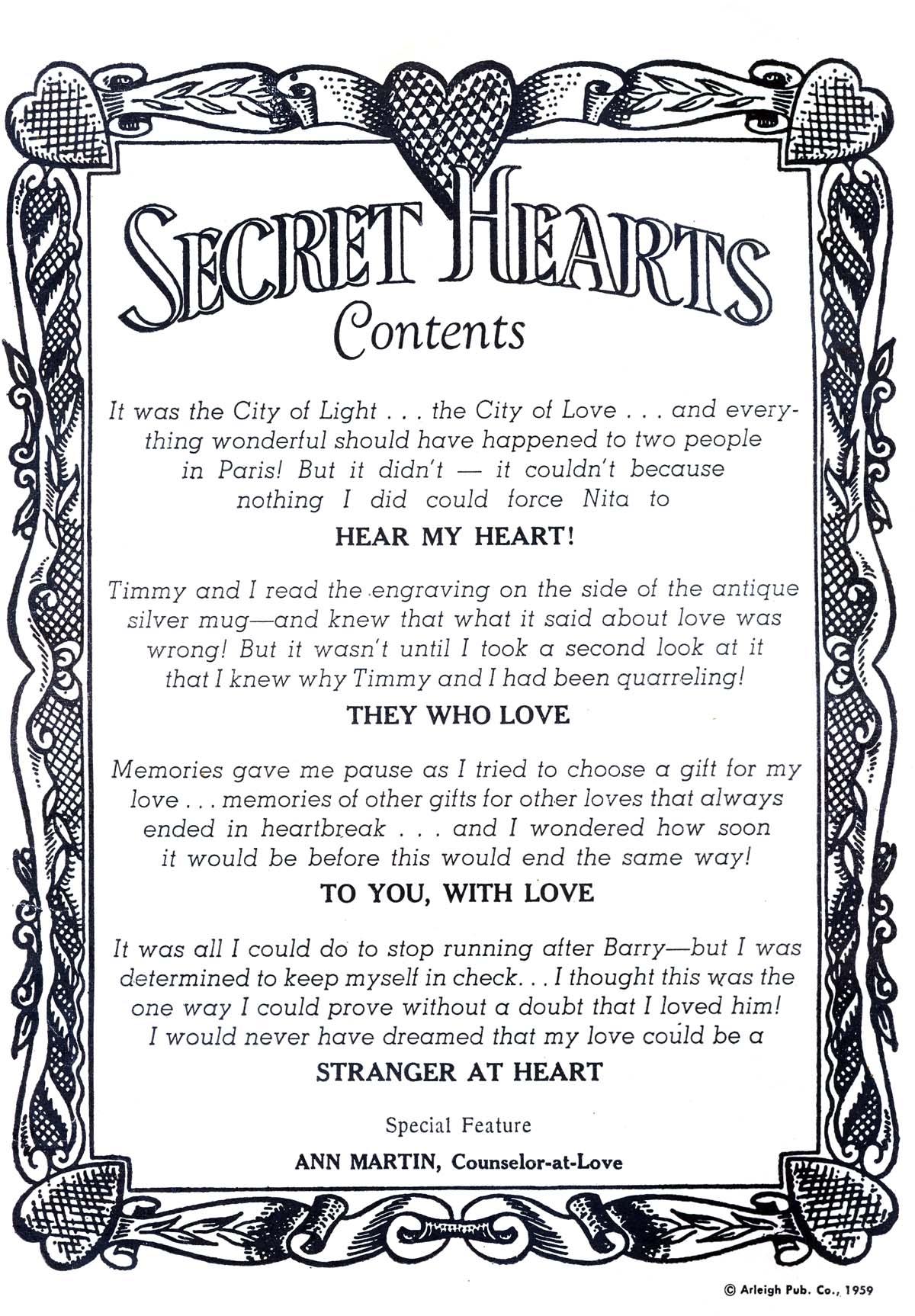 Read online Secret Hearts comic -  Issue #55 - 2