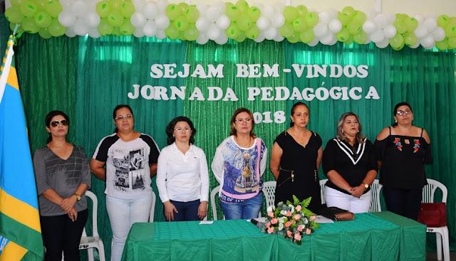 FRONTEIRAS  - II JORNADA PEDAGÓGICA É INICIADA COM GRANDE PÚBLICO