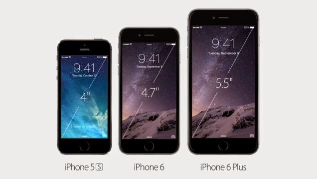 iPhone 5s, iPhone 6 y iPhone 6 Plus