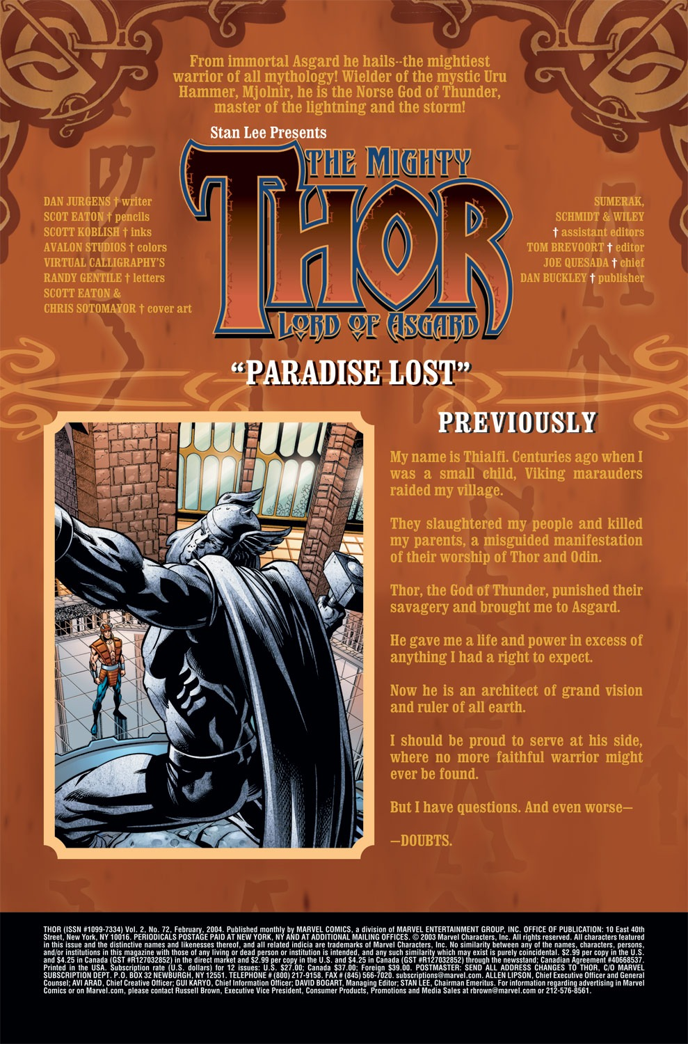 Thor (1998) Issue #72 #73 - English 2