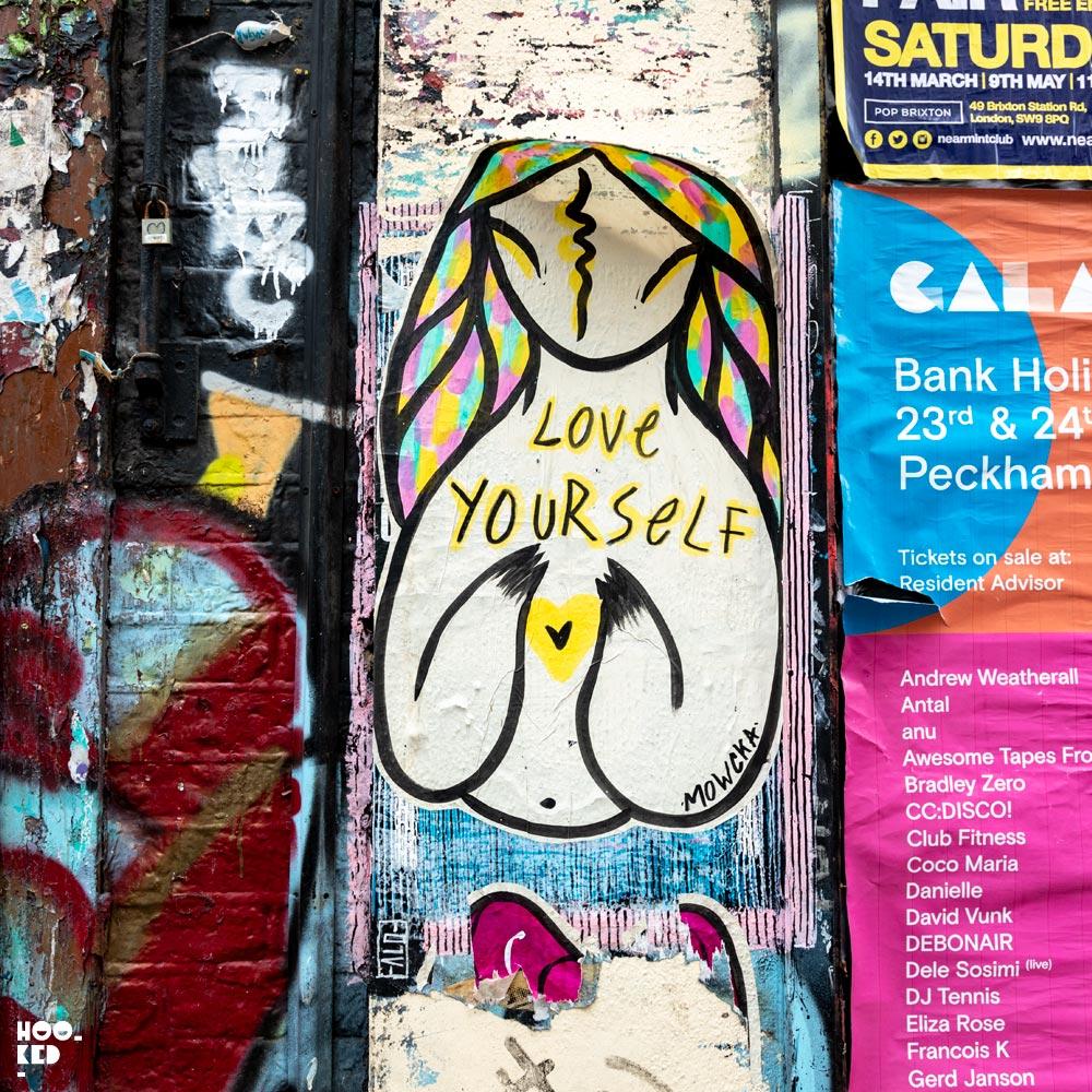 Shoreditch Street Art Paste-Ups : Artist Mali Mowcka