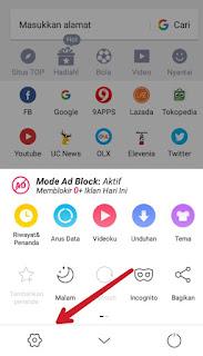 cara klik iklan dari smartphone