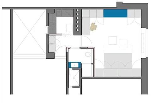 Преображенная квартира после перепланировки