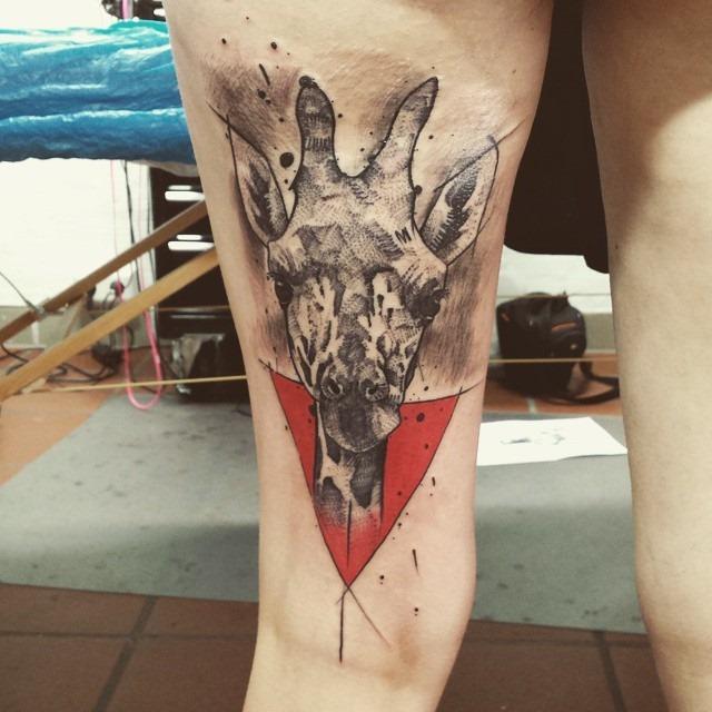 Tatuagens de girafas