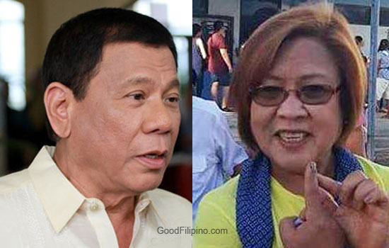President Rody Duterte to De Lima: 'I will file charges against you, you will lose'